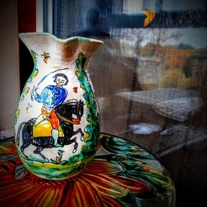 Vintage Pottery Pitcher from Madrid